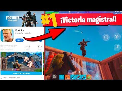PRIMERA VICTORIA en MOVIL de Fortnite: Battle Royale