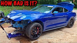 Rebuilding A Wrecked 2017 Mustang GT PART 2