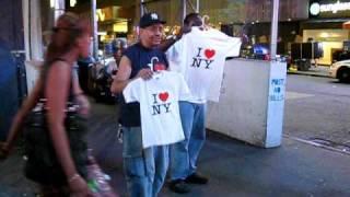 2009-08-06 NYC - I Love NY t-shirts