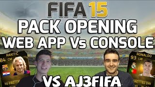 FIFA 15 - HOW TO GET THE BEST PLAYERS IN PACKS - WEB APP VS CONSOLE! FIFA 15 PACK OPENING LUCKY
