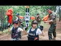 LTT Nerf War Special police SEAL X Warriors Nerf Guns Fight Attack Criminal Group Rescue Captain