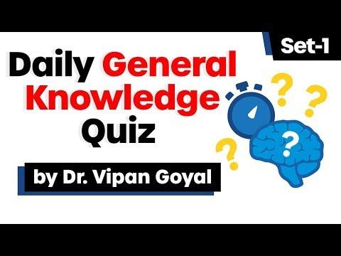 Daily General Knowledge Quiz I Set 1 I Dr Vipan Goyal I Study IQ I Daily Quiz Test