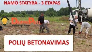 Pamatų įrengimas-polių betonavimas. III ETAPAS, pasiruošimas rostverkui, armatūra. (DARYKPATS)