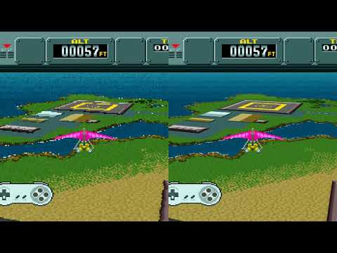 bsnes 107,1 | Pilotwings - HD Mode 7 Beta 1 Comparison