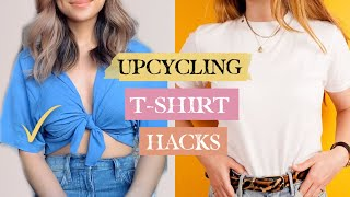 7 Old T-Shirt Hacks Every Girl Should Know! Testing TikTok Fashion Hacks
