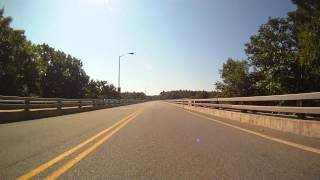preview picture of video 'Milford Delaware PA toll bridge -  over the delaware river'