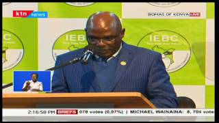 Chebukati: We urge all leaders to desist from making statements that cause tension among Kenyans