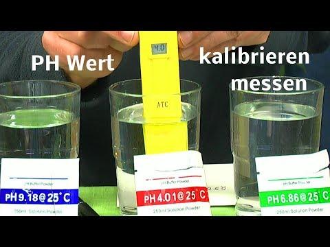 PH Messgerät kalibrieren einstellen und messen
