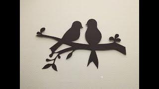 DIY Bird Wall Decor