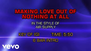 making love out of nothing at all air supply karaoke - Thủ thuật máy