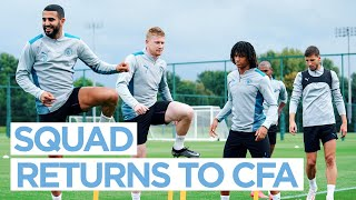 MAN CITY TRAINING – Players report for duty!
