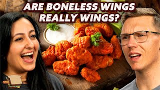 Are Boneless Wings Really Wings? | A Hot Dog Is a Sandwich | Mythical Kitchen