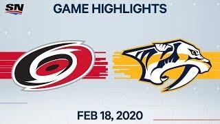 NHL Highlights   Hurricanes vs Predators – Feb. 18, 2020
