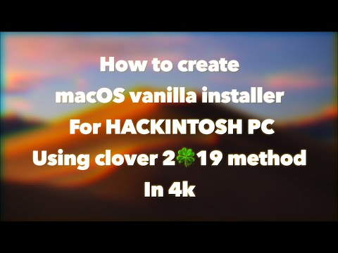 How to create a MacOS Mojave vanilla installer for PC