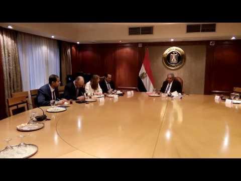 اجتماع الوزير/ طارق قابيل مع مسئولى بعثة صندوق النقد الدولى