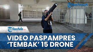 Viral Video Paspampres Pakai Senjata Pelumpuh Drone saat Pembukaan PON XX, Disebut Ada 15 Drone Liar