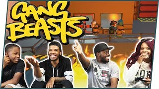 WHO CAN SURVIVE GETTING JUMPED!? - Gang Beasts Gameplay