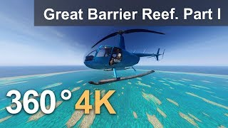 360, The Great Barrier Reef, Australia. Part I. 4K aerial video