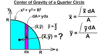 Mechanical Engineering: Centroids & Center of Gravity (5 of 35) Center of Gravity of a 1/4 Circle