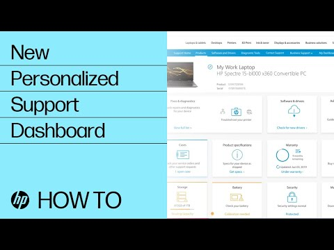 Personalized Support Dashboard experience from HP Support