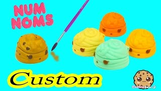 DIY Custom Painting Num Noms Lip Gloss Toy  Do It Yourself Craft Cookieswirlc Video