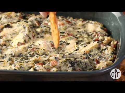 How to Make Hot Spinach and Artichoke Dip   Appetizer Recipes   Allrecipes.com