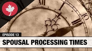 What is the processing time for a Canadian spousal sponsorship application?