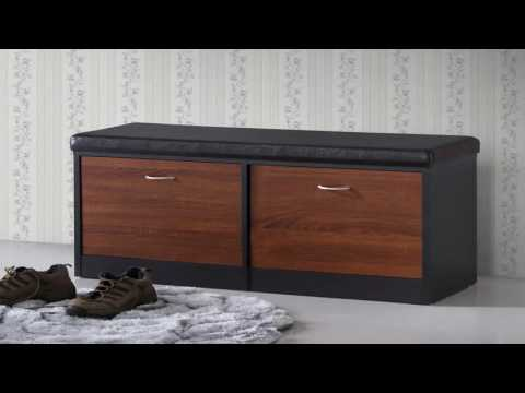 Baxton Studio Shoe Cabinet White Product Video