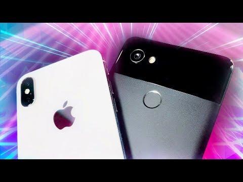 iPhone X vs Google Pixel 2!