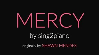 Mercy (HIGHER   Piano Karaoke Instrumental) Shawn Mendes