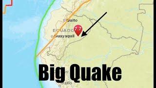 Powerful 7.5 Quake Rocks Ecuador - Trips Coastal Buoys 1200 Miles Away!