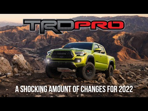 The 2022 Toyota Tacoma TRD Pro Gets Some Pretty SIGNIFICANT Updates