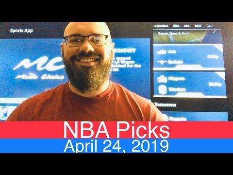 NBA Picks (4-24-19) | Playoffs Basketball Sports Betting Predictions Video | Vegas | April 24, 2019