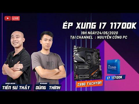 OVERCLOCKING LN2 i7 11700K TRÊN BO MẠCH CHỦ Z590 TACHYON