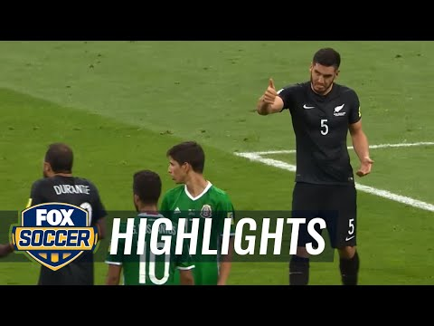 Mexico, New Zealand carded for fight after VAR review | 2017 FIFA Confederations Cup Highlights