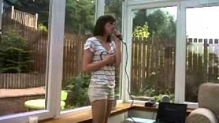 my friend hannah singing.