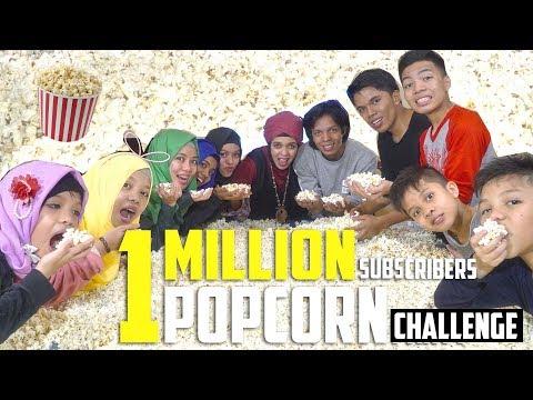 1 MILLION SUBSCRIBERS POPCORN CHALLENGE | Gen Halilintar