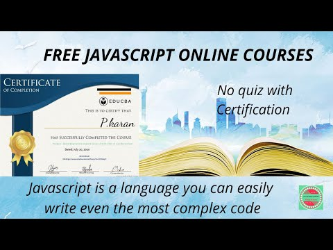 Online Free Javascript Course   Educba Certification   Courses for ...