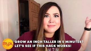 GROW AN INCH TALLER IN 5 MINUTES? LET'S SEE IF THIS HACK WORKS! | AI'S VLOG