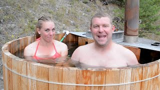 TIMELAPSE: WOOD FIRED HOT TUB Built By Couple In 13 Min