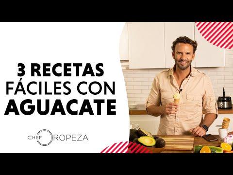 3 Recetas Con Aguacate Elaboradas Por El Chef Oropeza