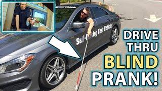 BLIND MAN at DRIVE THROUGH! **Self-Driving Car?**