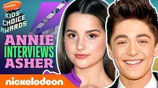 Annie LeBlanc & Asher Angel's First Orange Carpet Together | 2019 Kids' Choice Awards