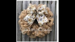 Easy DIY Mesh Wreath / Facebook Live Replay