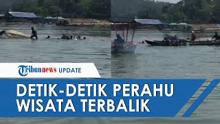Detik-detik Perahu Wisata di Waduk Kedung Ombo Terbalik, 16 Orang Tenggelam, 5 dalam Pencarian