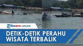 Detik-detik Perahu Wisata di Waduk Kedung Ombo Terbalik, 16 Orang Tenggelam, 5 dalam Pencarian