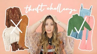 THRIFT CHALLENGE * I Thrifted NOTHING in my fave colours!