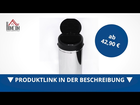 Edelstahl Mülleimer 30L Automatik Sensor mit Inneneimer (rund) - direkt kaufen!