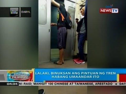 BP: Lalaki, binuksan ang pintuan ng tren habang umaandar ito