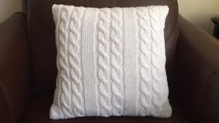 How To Knit  A Cable Pillow, Lilu's Handmade Corner Video # 64